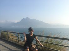 Michelle_Ho_090414 正為「香港防癌會」籌款