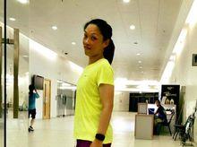 Debbie Lau 正為「香港防癌會」籌款
