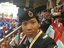 Anna Leung 正為「香港防癌會」籌款
