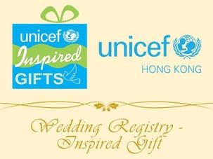 UNICEF HK's Wedding Registry – Inspired Gifts